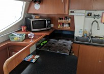 Leopard 46 Catamaran HEEL NO galley