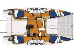 Leopard 46 Catamaran Layout