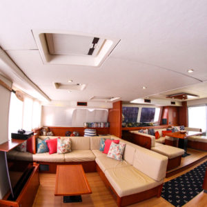 Leopard 58 Catamaran AQUA BOB salon interior