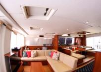 Leopard 58 Catamaran AQUA BOB salon interior