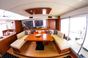 Leopard 58 Catamaran AQUA BOB interior