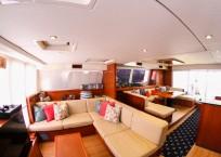 Leopard 58 Catamaran salon seating