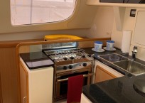 Leopard 40 Catamaran galley