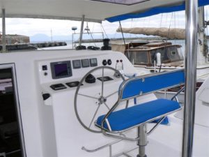 Admiral 40 Catamaran helm station