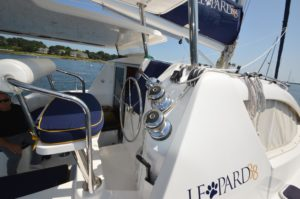 2010 Leopard 38 Catamaran PANTHERA Sold - helm