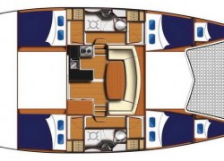 Leopard 39 Catamaran layout - OCEAN ABBY