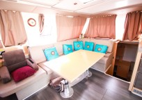 Fountaine Pajot Helia 44 Catamaran salon seating
