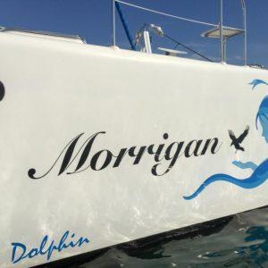 Dolphin 460 Catamaran MORRIGAN boat name