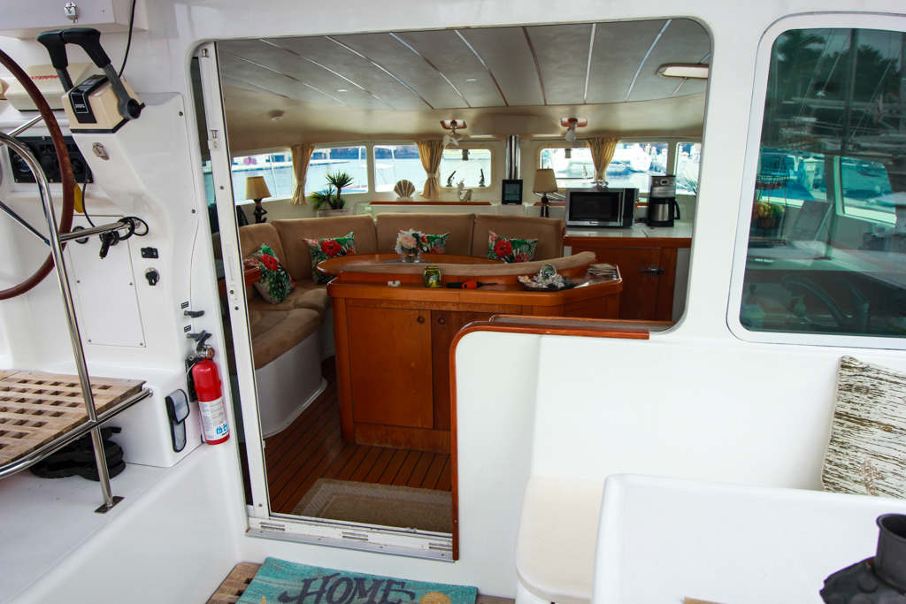 Lagoon 410 S2 Catamaran AT LAST cockpit