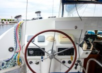 Lagoon 410 S2 Catamaran AT LAST helm station