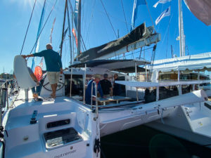 Outremer 45 Catamaran at Annapolis Sailboat Show LA VAGABONDE