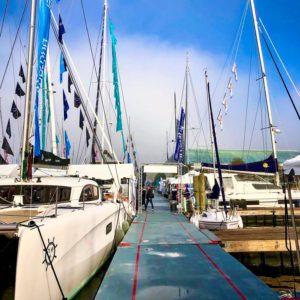 Outremer 45 Catamaran at Annapolis Sailboat Show LA VAGABONDE