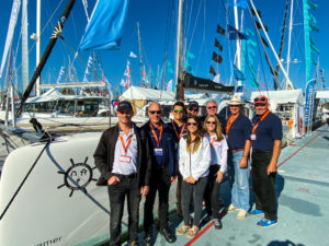 Outremer 45 Catamaran at Annapolis Sailboat Show LA VAGABONDE Just Catamarans team