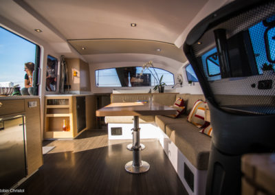 Outremer Catamaran 4X photo 12 interior carre saloon