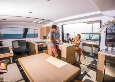 Outremer Catamaran 4X photo 6 interior carre saloon