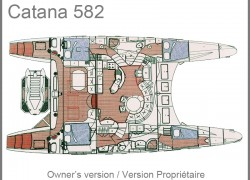 Catana 582 Catamaran Layout