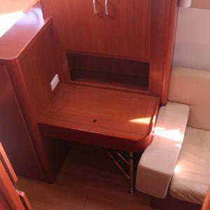 Leopard 47 Power Catamaran BIG MAMA cabin desk