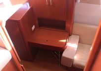 Leopard 47 Power Catamaran BIG MAMA cabin desk