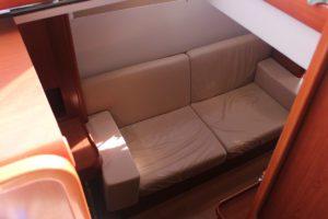 Leopard 47 Power Catamaran BIG MAMA cabin sofa
