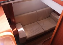 Leopard 47 Power Catamaran BIG MAMA cabin sofa