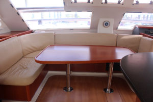 Leopard 47 Power Catamaran BIG MAMA salon seating