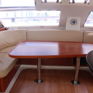 Leopard 47 Power Catamaran BIG MAMA salon seating