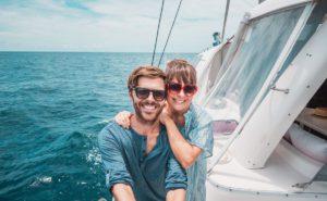 Jason and Nikki Wynns with Just Catamarans