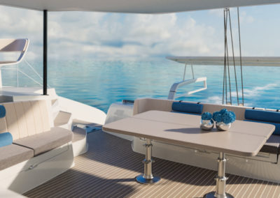 Outermer 55 Performance Catamaran-aft deck