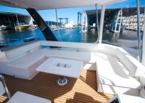 2019 Leopard 43 Power Catamaran flybridge seating