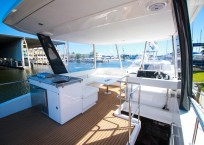 2019 Leopard 43 Power Catamaran flybridge