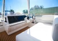 2019 Leopard 43 Power Catamaran helm