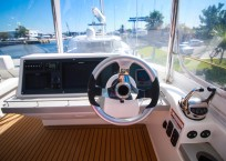 2019 Leopard 43 Power Catamaran helm