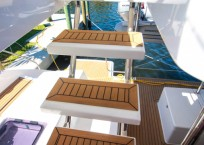 2019 Leopard 43 Power Catamaran stairs