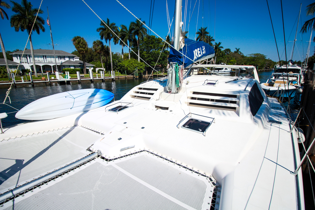 Leopard 47 Catamaran bow