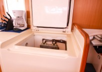 Leopard 47 Catamaran freezer