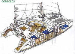 Catana 48 Catamaran SWIFT layout