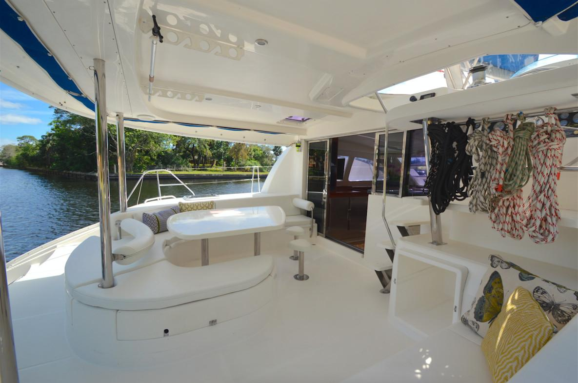 Leopard 46 Catamaran sold - cockpit