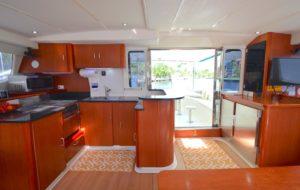 Leopard 46 Catamaran sold salon