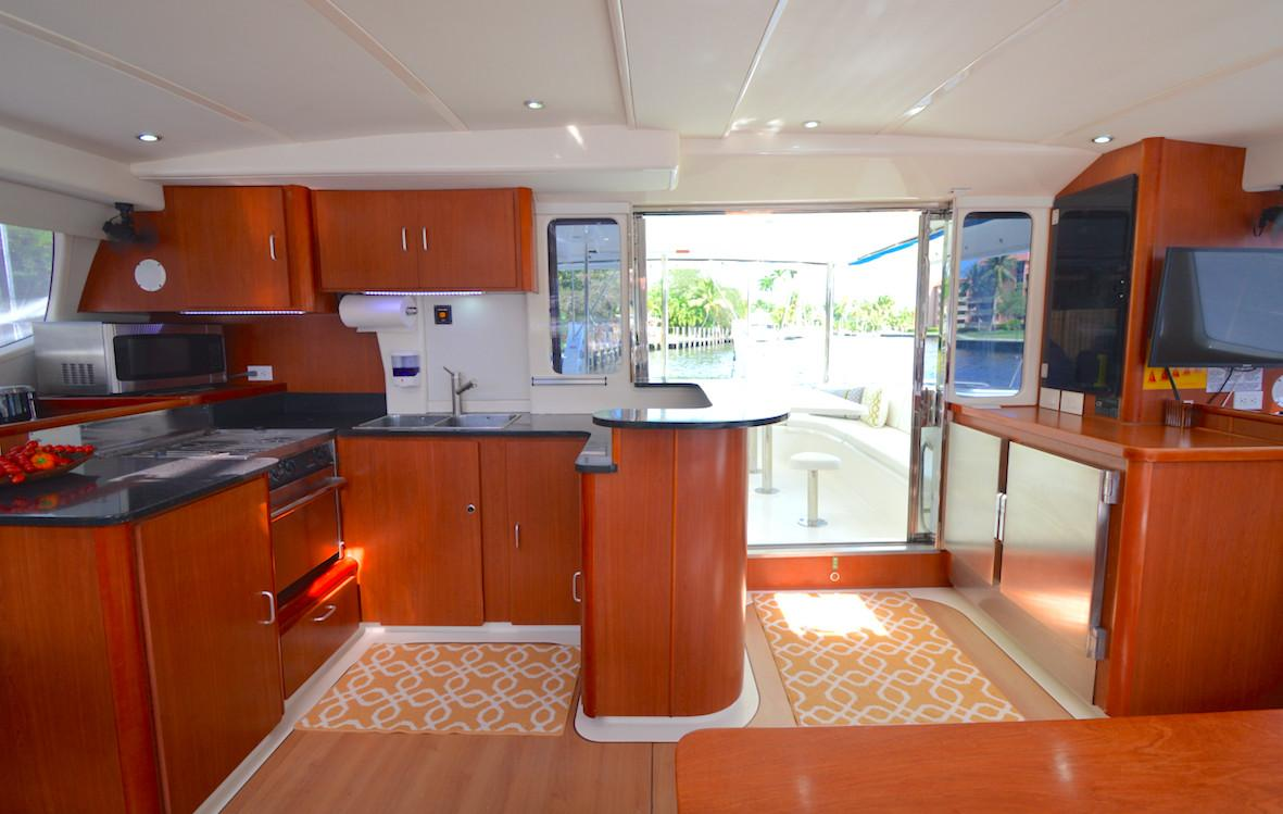 Leopard 46 Catamaran sold salon
