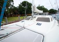 Voyage Norseman 43 Catamaran bow