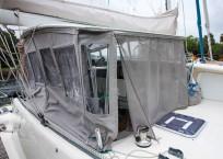 Voyage Norseman 43 Catamaran helm cover