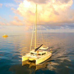 Lagoon 420 Catamaran CREME BRULEE - moored