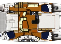 Leopard 46 Catamaran Owners Version layout