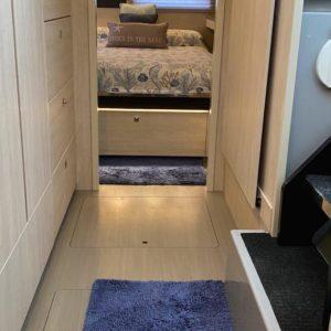 Leopard 45 Catamaran owners cabin