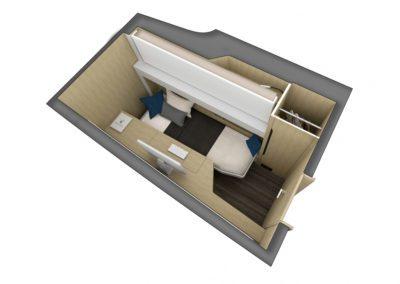 Outremer 55 Catamaran cabin configuration 1