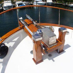 1981 Marine Trader Pilothouse 49 bow