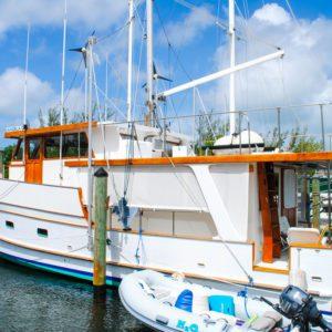 1981 Marine Trader Pilothouse 49 port