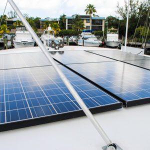 1981 Marine Trader Pilothouse 49 solar panels