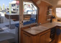 2000 Catana 431 Catamaran QUANDARY galley