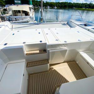 Leopard 45 Catamaran bow seating